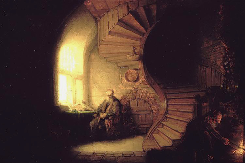 philosopher-in-meditation-1632-rembrandt