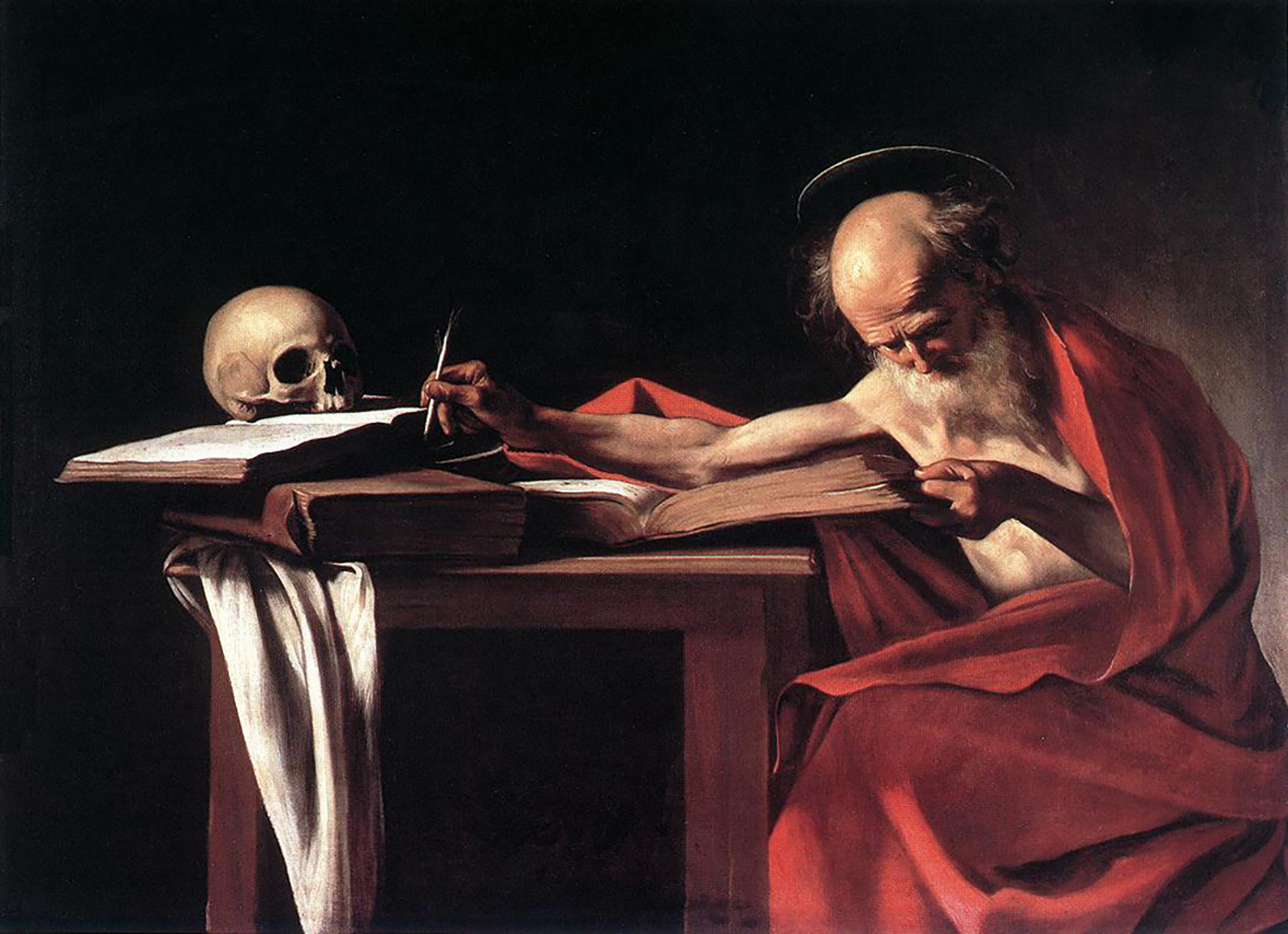 3 michelangelo_caravaggio_64_saint_jerome_writing