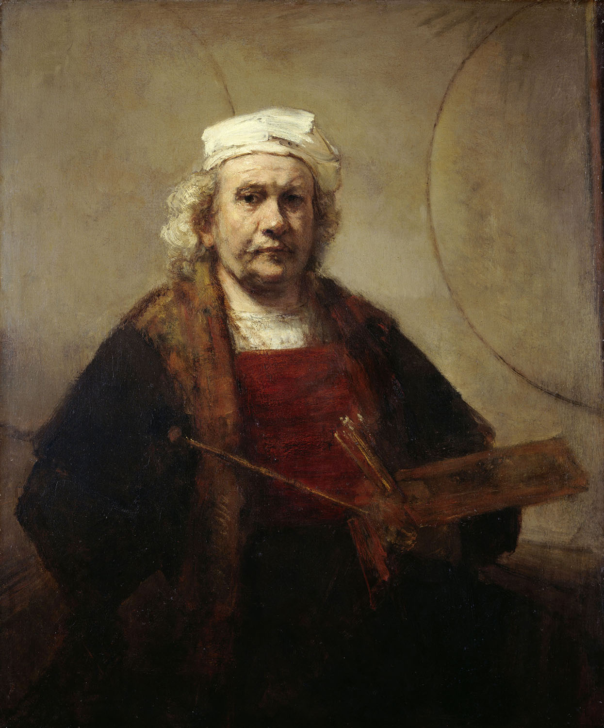 "KENWOOD HOUSE, THE IVEAGH BEQUEST, London. "" Self-Portrait "" c1665 by REMBRANDT Van Rijn (1606-1669)."