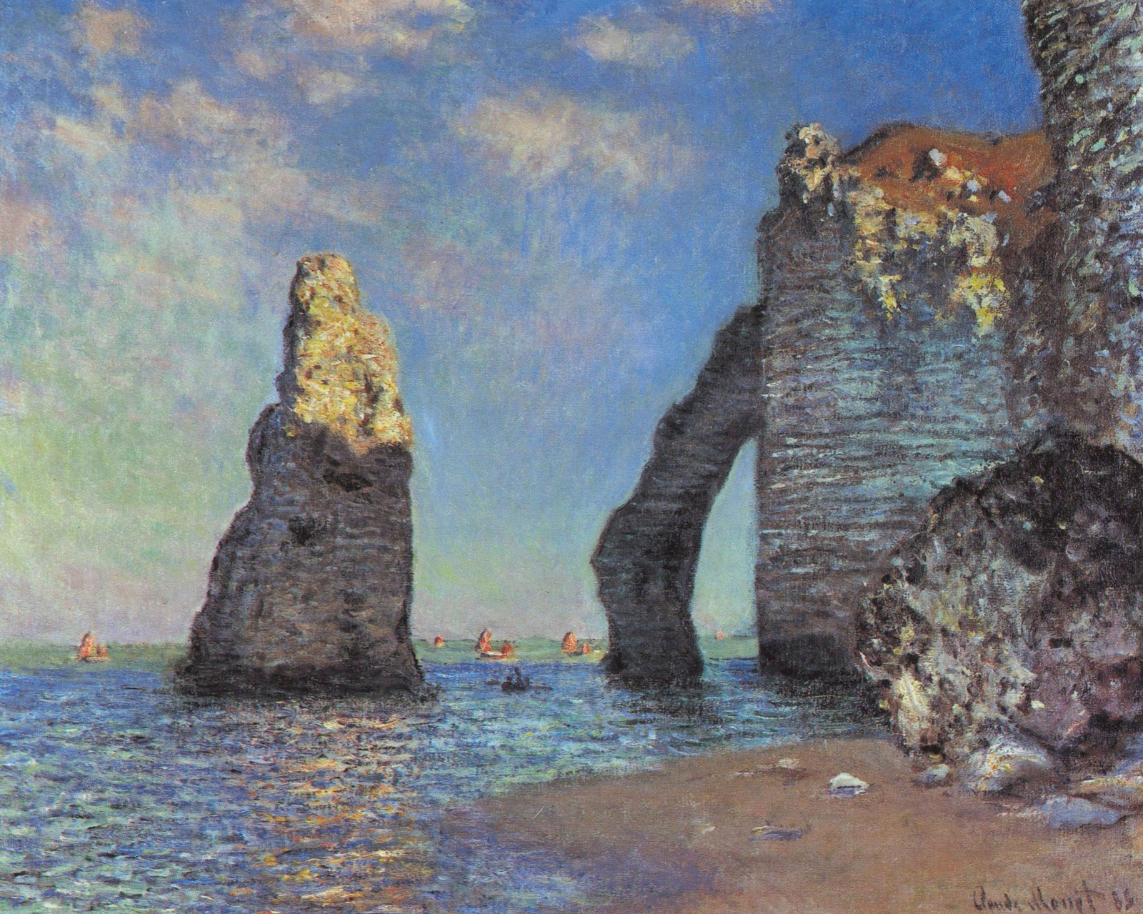 The rocky cliffs of Étretat by Monet.jpg