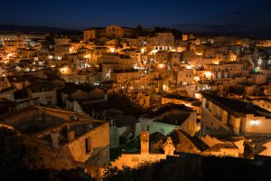 Main Page August Matera Sassi at night