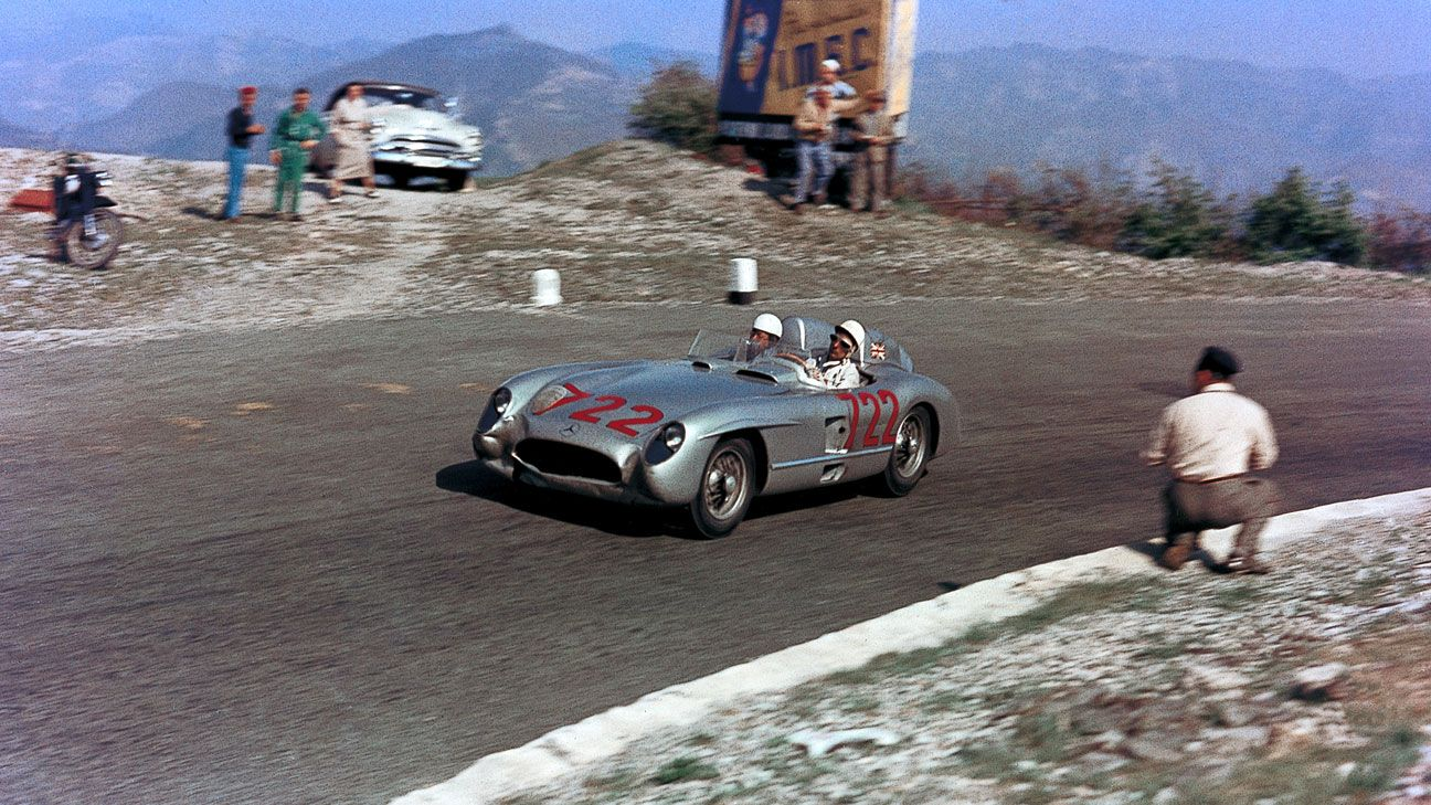Stirling Moss racing the Mille Miglia