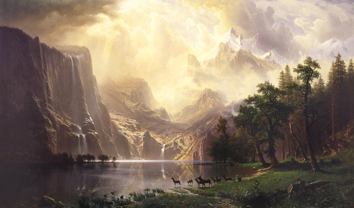 4-Albert_Bierstadt_Among_the_Sierra_Nevada_Mountains