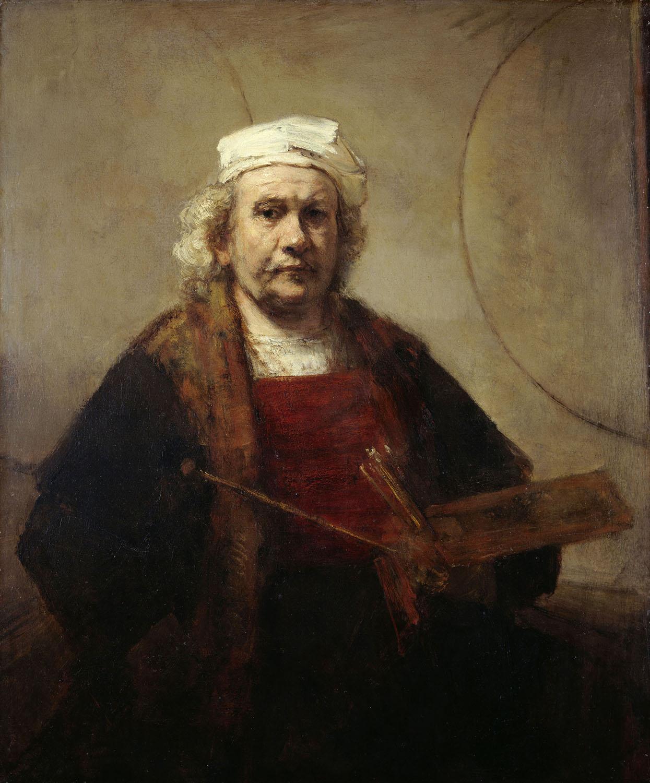 "KENWOOD HOUSE, THE IVEAGH BEQUEST, London. "" Self-Portrait "" c1665 by REMBRANDT Van Rijn (1606-1669)."