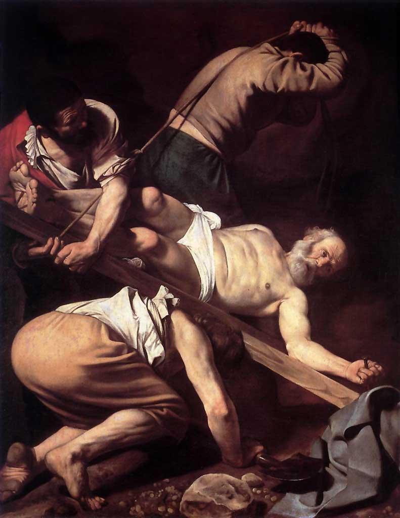 12 Cruxifiction of St Peter Caravaggio