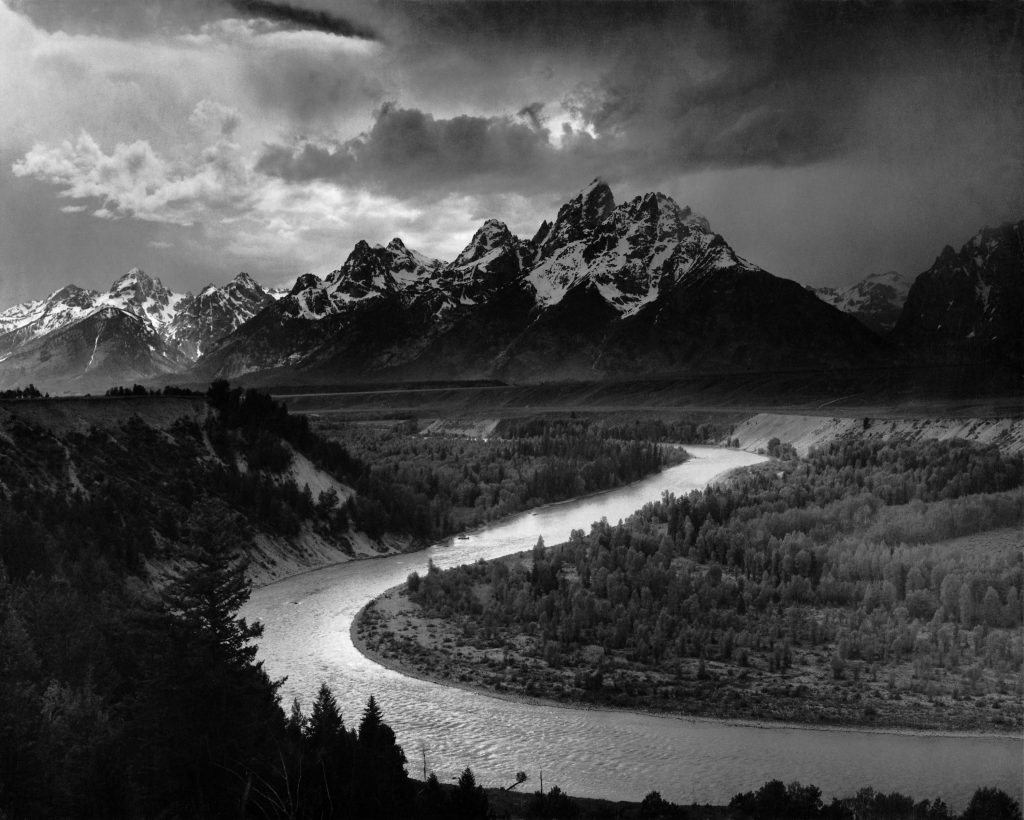 "Ansel Adams ""The Tetons and the Snake River"""